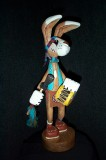 Dancer Indian Rabbit Drummer, Wood Art